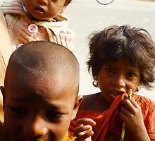 Indian kids saying 'hello'.2 by wehavegrown