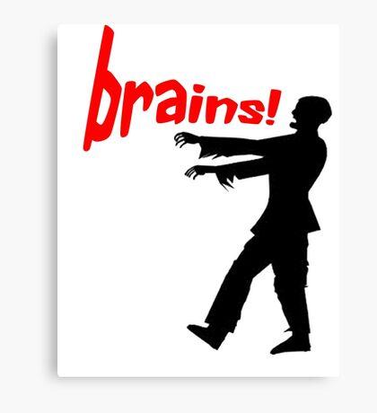 agggh! brains! Canvas Print