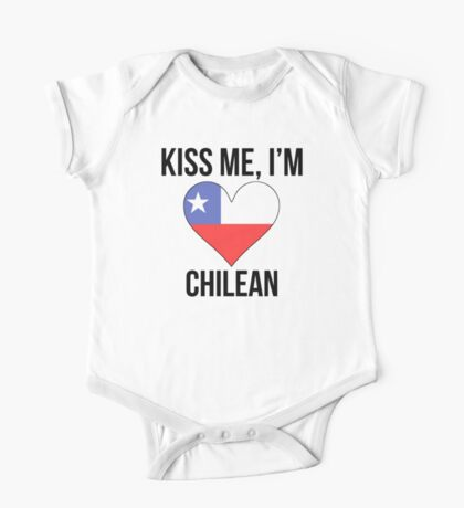 Kiss Me I'm Chilean One Piece - Short Sleeve