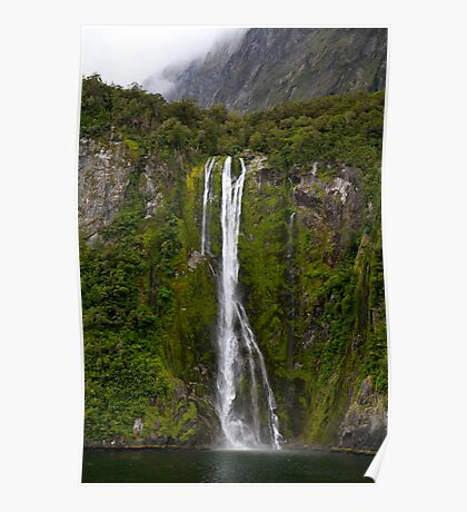 Waterfall in the Fiords Poster