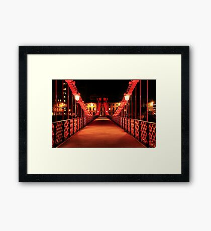 South Portland Street Suspension Bridge  Framed Print