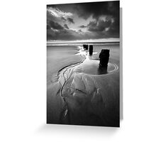 Reach for the Sea BW Greeting Card