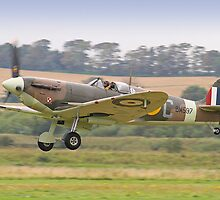 Spitfire VB BM597 Scramble - Shoreham Airshow 2012 by Colin  Williams Photography