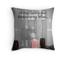Sitting Quietly and Remembering Throw Pillow