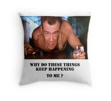 Die Hard - Bruce Willis Throw Pillow