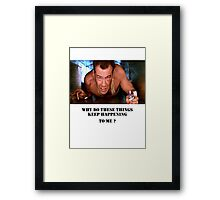 Die Hard - Bruce Willis Framed Print