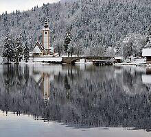 Lake Bohinj in Winter by Ian Middleton