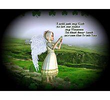Little Irish Angel Photographic Print