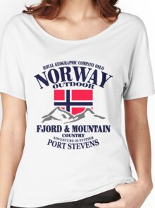 Norway - Fjord & Mountain Women's Relaxed Fit T-Shirt