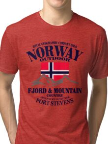 Norway - Fjord & Mountain Tri-blend T-Shirt