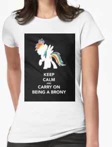 Brony On  Womens Fitted T-Shirt