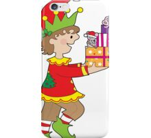 Elf with Presents iPhone Case/Skin