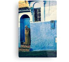 THE COLOUR OF HER DRESS IS PERFECT WITH THE REST OF THE PLACE!!! Morocco Metal Print