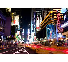 Times Square Speed Photographic Print