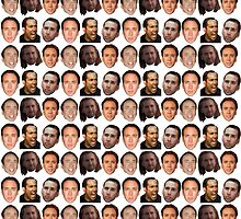 Nicolas Cage Face Collage by Alexandra Buchholz