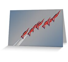 Red Arrows - Dunsfold 2012 Greeting Card