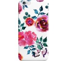 Beautiful hand-drawn flowers. Watercolor floral seamless pattern iPhone Case/Skin
