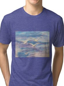 Over The Sea Tri-blend T-Shirt