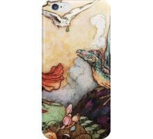 Fantasy Scene with Dragon and Adventurer iPhone Case/Skin