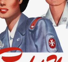 Be A Cadet Nurse Vintage Poster Sticker