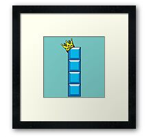 Tetris King Framed Print