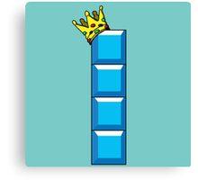 Tetris King Canvas Print
