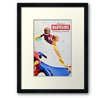 """Marvelous"" LEGO Holiday Card Collection Framed Print"