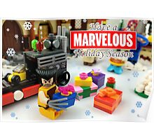"""Marvelous"" LEGO Holiday Card Collection Poster"