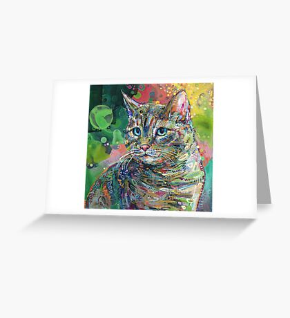 Cat painting - 2011 Greeting Card