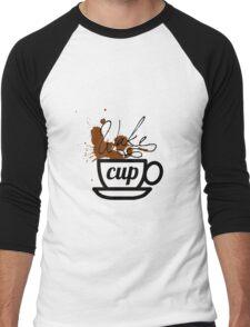 wake cup Men's Baseball ¾ T-Shirt