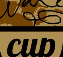 wake cup fos Sticker