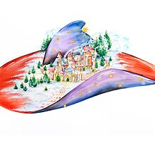Winter Village Hat by Sally King