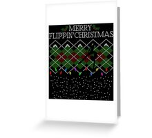 Merry Flippin' Christmas - A Gymnast's Christmas Sweater Greeting Card