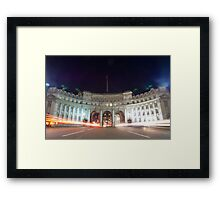 Admiralty Arch at night Framed Print