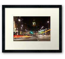 Whitehall at Night - London Framed Print