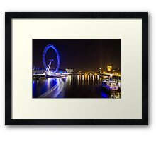 River Thames at Night Framed Print