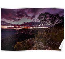 Sunset at Echo Point - Blue Mountains  Poster