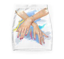 Fashion Girl — hands Mini Skirt