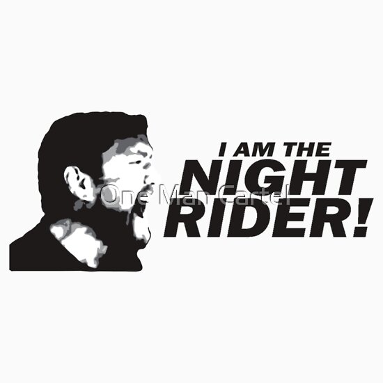 """Iam A Rider Song: I Am The Night Rider"""" Stickers By Antdragonist"""