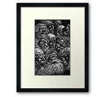 Spooky Faces Framed Print