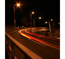 Light trails Photographic Print