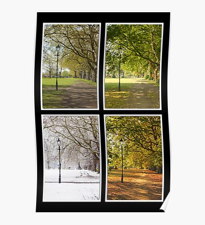 Four Seasons of Clapham Common Poster
