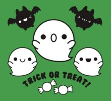 Halloween Adorable Kawaii Bats Ghosts and Candy One Piece - Short Sleeve