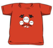 Halloween Adorable Kawaii Bats Ghosts and Candy Kids Tee