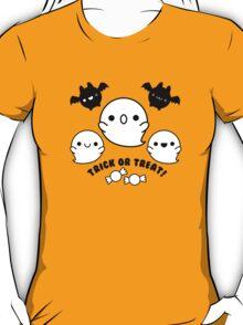 Halloween Adorable Kawaii Bats Ghosts and Candy T-Shirt