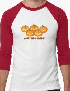 Halloween Adorable Kawaii Pumpkins Men's Baseball ¾ T-Shirt