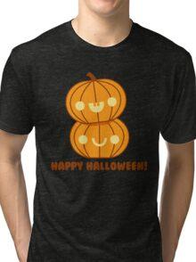 Halloween Adorable Kawaii Pumpkins Tri-blend T-Shirt