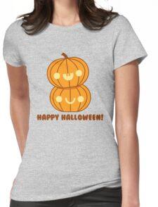 Halloween Adorable Kawaii Pumpkins Womens Fitted T-Shirt