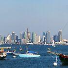 San Diego Skyline Pano by fsmitchellphoto