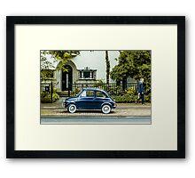 A car and a man Framed Print